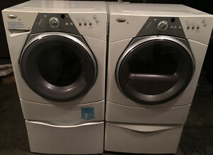 Whirpool duet washer and dryer like new