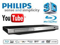 Blu-ray 3D (DVD, CD, USB) Smart player. 3D playback, DivX Plus HD, BD-Live, YouTube