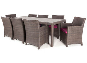 40% OFF◄ Aluminum RustFree UV treated PATIO outdoor dining table