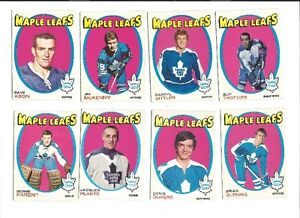 1971/72  21 OPC Toronto Maple Leafs cards