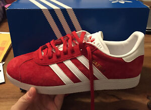 Adidas Gazelles (Red) - Women's Size 7