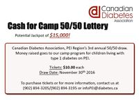 """Cash for Camp 50/50 Lottery"""