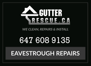 Eavestrough repairs / roof repairs