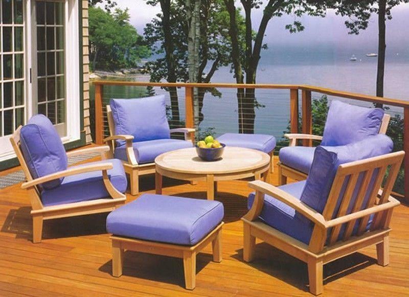 7 Pc Teakwood Garden Indoor Outdoor Patio Sofa Pool Set Somer Deep Seater Lounge