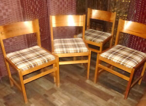 Set of 4 DINNING ROOM CHAIRS Pine Chair Wood Chair Dinning Table