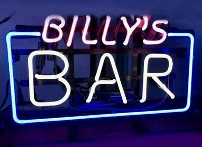 Neon Light Custom Name Text Beer Bar Business Open Fast Foods Sign 13x8