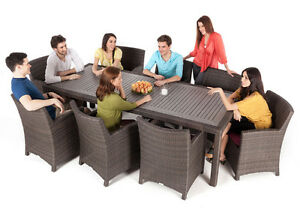 PATIO outdoor dining table for 8 people
