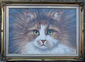 Amazing Cat Portrait Painting ~ for Cat lovers