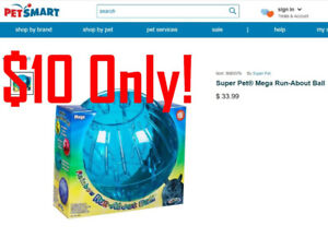 Super Pet® Mega Run-About Ball for Dwarf Hamster LARGE Exercise