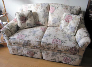 Love-seat with cushions