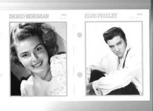 Movie Star cards Elvis Marilyn Monroe