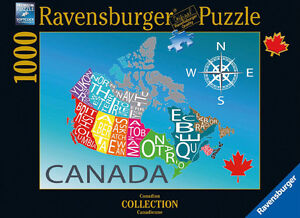 Ravensburger 1000 piece puzzle - Map of Canada