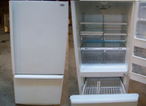 Refrigerator - White - Bottom Freezer - Durham Appliances Ltd