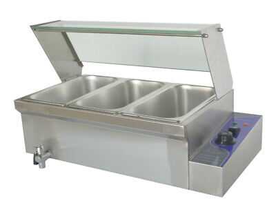 110v 1500w-6inch Deep 3-pot Bain-marie Buffet Food Warmer With 13pan Brand New