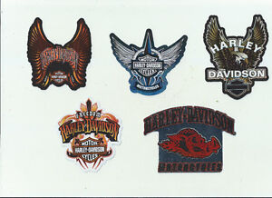 5 DIFFERENT HARLEY DAVIDSON MOTORCYCLE DECALS