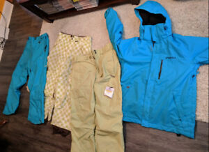Snowboarding clothes.