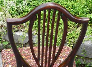 Georgian Mahogany Shield Back Chair, Antique Kingston Kingston Area image 8