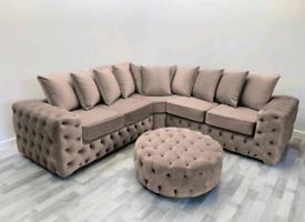 Ashton Italian Velvet 3 + 2 Seater Sofa Set Different Colors