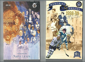 1991-92 1998-99 TORONTO MAPLE LEAFS GUIDES