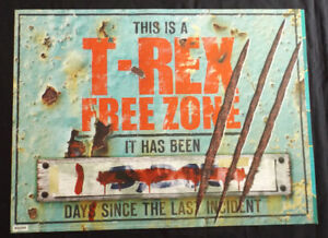 """This is a T-Rex Free Zone 18"""" x 24"""" Poster"""