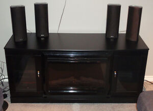 Electric Fireplace TV Stand and Display Unit