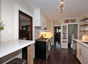 Like New white kitchen cabinets and solid countertops!