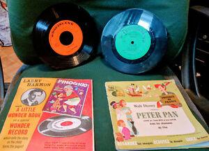 Vintage Walt Disney & Wonderland booklets & Records (45 rp) - BO
