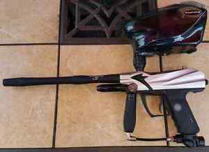 Set of paintball markers