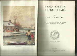 "Vintage Canadian History ""Early Life in Upper Canada"" -Huge 1933"