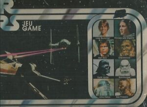 STAR WARS GAME-JEU 1977 ESCAPE FROM DEATH STAR