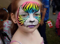 FACE PAINTING AND GLITTER TATTOOS TO DAZZLE! By KATIE THE GREAT!