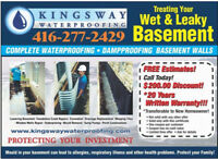 WET AND LEAKY BASEMENT? Free estimate 24/7 service