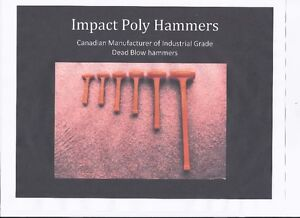Polyurethane dead blow impact poly hammers