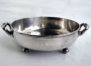 Antique English Elkington Victorian Silverplate Footed Bowl 1860