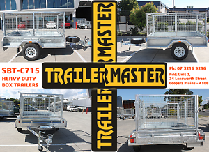 7X5 Heavy Duty Galvanized Box Trailer + Cage, Spare, Jockey Wheel Coopers Plains Brisbane South West Preview