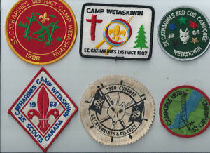 11 DIFFERENT OLDER BOY SCOUT PATCHES FROM ST. CATHARINES