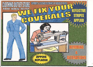 "!!!!!!!!!!!!! "" WE FIX YOUR COVERALLS "" !!!!!!!!!!!!!!!!!!!!!!!!"