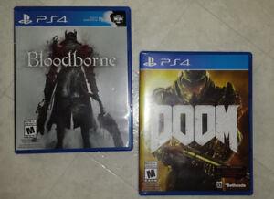 Jeux de PS4 - Bloodborne et Doom
