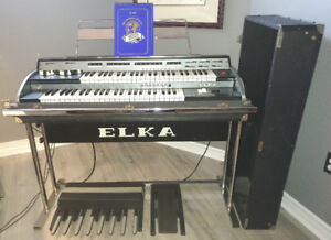 Elka X-605 Electronic Organ and Leslie Amplifier