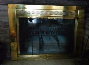 Glass Gold Fireplace
