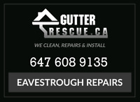 Eavestrough siding repairs / roof repairs