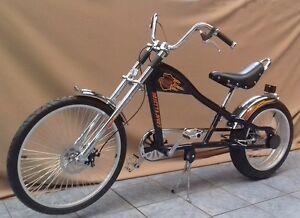 Rosetta Sport LA fahrrad Lowrider SCHWARZ MO chopper bike Harley rad cruiser