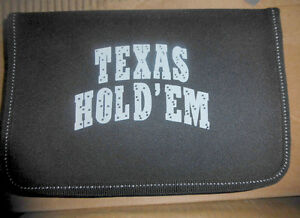 NEW Texas Hold 'em cards and chips in carrying bag