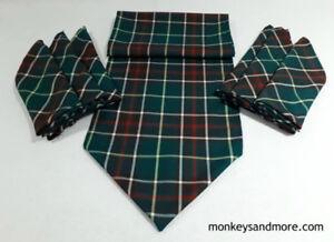 Newfoundland Tartan Cloth Napkins. 6 piece with 5 foot runner