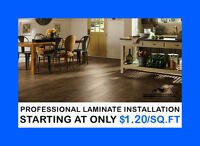 LOW, LOW Prices on laminate & vinyl plank installations