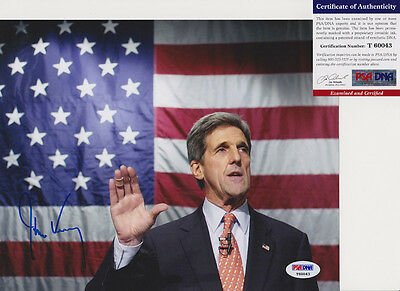 John Kerry Secretary Of State Senator Signed Autograph 8X10 Photo Psa Dna Coa  3