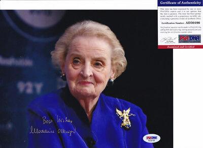 Madeleine Albright Secretary Of State Signed Autograph 8X10 Photo Psa Dna Coa  8