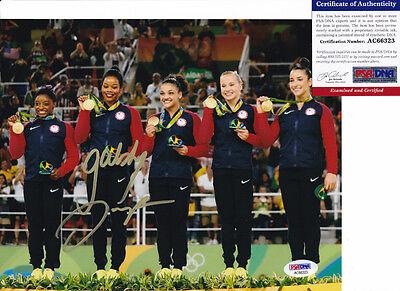 Gabrielle Gabby Douglas Rio Olympics Signed Autograph 8X10 Photo Psa Dna Coa  2