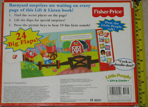 Fisher Price - Little People On The Farm Flap & Sound Large Book London Ontario image 2