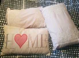 3 decorative rectangular cushions